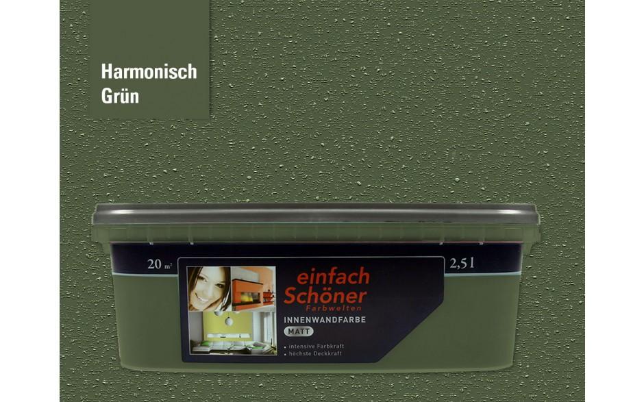 Wandfarbe harmonisch grün innen matt 2,5 Liter