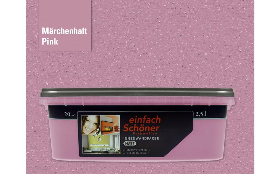 Wandfarbe märchenhaft pink innen matt 2,5 Liter