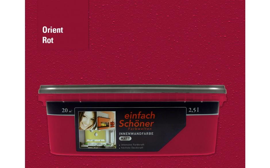 Wandfarbe orient rot innen matt 2,5 Liter