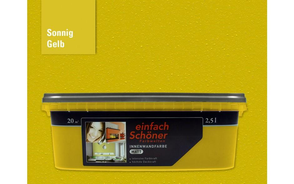 Wandfarbe sonnig gelb innen matt 2,5 Liter